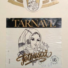 eticheta veche romaneasca Feteasca Tarnave IAS Jidvei '90