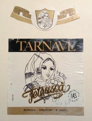 eticheta veche romaneasca Feteasca Tarnave IAS Jidvei '90 foto