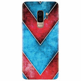 Husa silicon pentru Samsung S9 Plus, Blue And Red Abstract