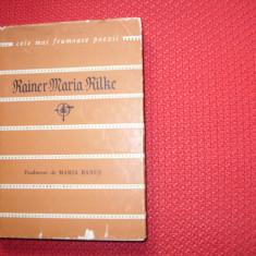 RAINER  MARIA  RILKE  -  POEZII   ( 1966, Cele mai frumoase poezii ) *