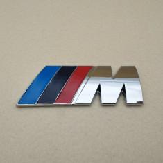 Emblema / Logo / Sigla / Sticker BMW - 4.5*1.5cm 3D Metal M Power - Argintiu foto