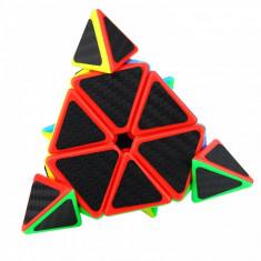 Cub Rubik 3x3x3, Moyu MoFangJiaoShi Pyraminx, fibra de carbon, 59CUB