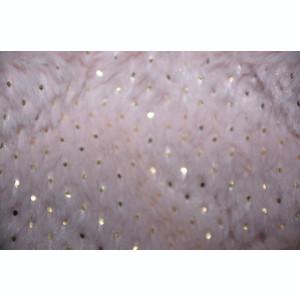 Fular Ioda circular din blanita si insertii de paiete ,nuanta de roz