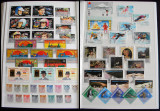 Clasor 985 timbre straine nestampilate + 50 colite + 17 blocuri, serii complete
