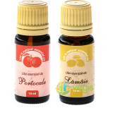 Ulei Esential de Portocale 10ml + Ulei Esential de Lamaie 10ml