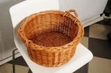 Coş pentru prosoape baie - din nuiele de răchită