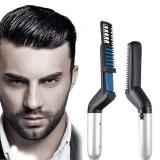 Cumpara ieftin Placa de indreptat parul si barba Barbati, Aparat de Par Barba Profesional, Hair Straightening Curler Comb TotulPerfect, Oem