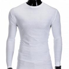 Bluza pentru barbati, din bumbac, alb, simpla, slim fit - L59