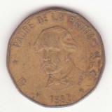 Republica Dominicană 1 peso 1992 - Juan Pablo Duarte y Diez