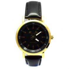 Ceas barbatesc MATTEO FERARI elegant, design italian, negru, cadran auriu +...