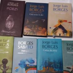 BORGES  CARTEA DE NISIP/MOARTEA SI BUSOLA/DIALOGURI  7 VOLUME CARTONATE  RF14/0