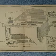Planul portului Galati / 35x25 cm