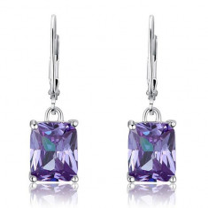 Cercei Borealy Argint 925 Simulated Sapphire Luxury Purple