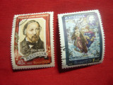 Serie 1957 URSS -Personalitati 100Ani M.Glinka Compozitor-scriitor ,2val.stamp., Stampilat