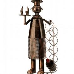 Suport metal pentru 5 sticle vin bucatar H 74 cm