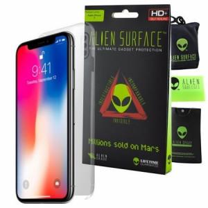 FOLIE ALIEN SURFACE HD, IPHONE X, SPATE, LATERALE + ALIEN FIBER CADOU