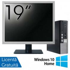 Calculator Dell OptiPlex 7010 USFF, Intel Core i5-3475S 2.90GHz, 4GB DDR3, 120GB SSD + Monitor 19 Inch + Windows 10 Home