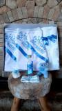 Trusou botez baietei cu bleu - Cu drag din partea nasilor (Marime Disponibila:...