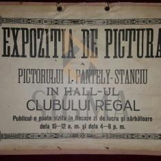 I. PANTELY-STANCIU - EXPOZITIA DE PICTURA A PICTORULUI I. PANTELY-STANCIU IN HALL-UL CLUBULUI REGAL
