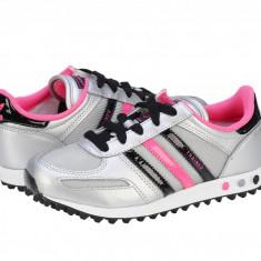 Pantofi sport copii Adidas Originals La Trainer K metsil-black1-bloom Q33594, Fete, 30