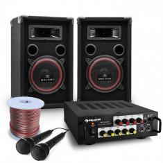 "Electronic-Star DJ PA Set ""Bass Noon"" Set complet karaoke PA + Amplificator"