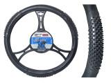 Husa volan Black Tir , material cauciucat, diametru 49-51 cm Kft Auto, AutoMax Polonia