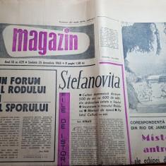 Magazin 25 decembrie 1965-articol despre iasi,nr aparut in ziua de craciun