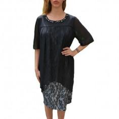 Rochie eleganta Kayla cu aplicatii de margele,nuanta de negru, 50, 52, 54, 56, 58