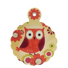 Suport pentru vase fierbinti Owl, ceramica, baza anti-alunecare, 23x18 cm