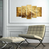 Cumpara ieftin Tablou decorativ multicanvas Charm, 5 Piese, Piratii din Caraibe, 223CHR3940, Multicolor