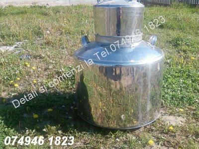 Cazan pentru Tuica, INOX.De 120 de litri (Livrare oriunde in tara) foto