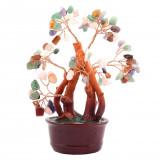 Copac cu pietre semipretioase mixt pe suport ceramic
