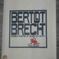 Domnul Puntilla si sluga sa Matty, Bertold Brecht/ afis litografiat, Vasile Olac