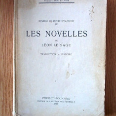ETUDES DE DROIT BYZANTIN/ LES NOVELLES DE LEON DE SAGE-  SPULBER/CERNAUTI/1934