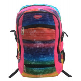 Ghiozdan Colors, liceu, bretele buretate, 33 cm, multicolor, Daco