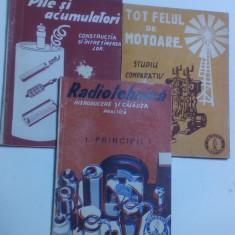 un lot de 3 carte veche brosuri colectia practica radio  radiotehnica anii 30