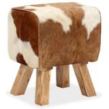 Scaun din piele naturală de capră 40x30x45 cm