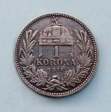 UNGARIA  -  1 Korona 1916  -  Franz Joseph I  -  Argint 5 g.