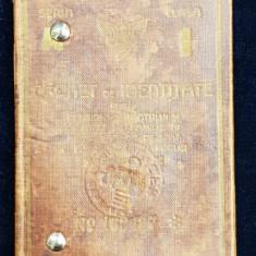 CAILE FERATE ROMANE - CARNET DE IDENTITATE , PE NUMELE DOCTORULUI TITUS DEMETRESCU DIN PITESTI , EMIS IN 1935