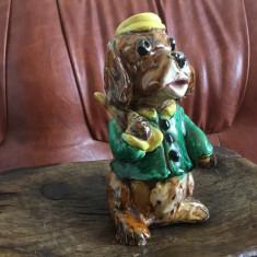 Bibelou / Figurina catel din ceramica model deosebit cu semnatura artistului !