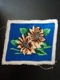 Goblen flori 23.5 * 20 cm nou neinramat niciodata