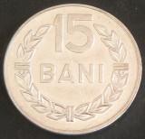Moneda 15 BANI - RS ROMANIA, anul 1975   *cod 3098  UNC - ALUMINIU!