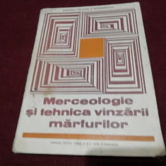 MERCEOLOGIE SI TEHNICA VANZARII MARFURILOR