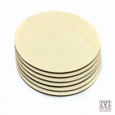 Blank suport rotund din lemn pentru pahare (Set 6)