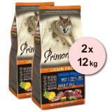 Cumpara ieftin Primordial GF Adult Tuna & Lamb 2 x 12 kg