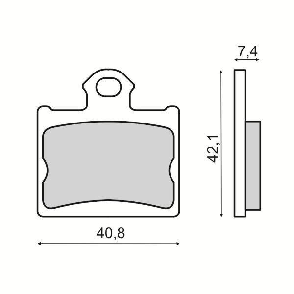 MBS Placute frana KTM SX 85 19/16 WHEEL 85 2011/2018, echivalent MCB831, Cod Produs: 225103530RM