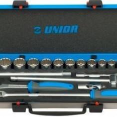 """Trusa capete chei tubulare 1/2"""" in cutie metalica - Unior"""