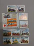 Paraguay - Timbre trenuri, locomotive, cai ferate, nestampilate MNH, Nestampilat
