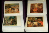 Album 125 carti postale ilustrate tematica pictura, arta Renastere, Impresionism
