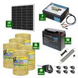 Pachet Gard electric 8,5J putere cu Panou Solar si 5000m de fir 160Kg